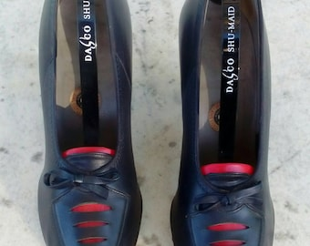 1940s Ladies Blue Peep Toe Shoes