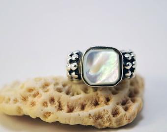 Moonstone Ring, Moonstone, Sterling Silver Ring, Size 8 Ring, Gemstone Ring, Statement Ring, June Birthstone