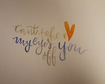 Short calligraphy quote