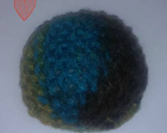 Large knitted catnip ball toy