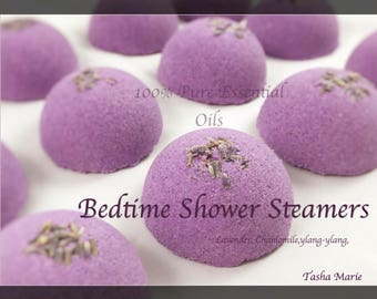 Aromatherapy Shower Steamers / Shower Bombs / Shower Tablets / 100% Pure Essential Oils / Bentonite Clay / Lavender & Chamomile  / PACKS