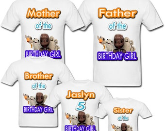 Personalized Little Big Planet Birthday shirt for Family