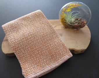 Handwoven Organic Cotton Linen Towel - Pumpkin