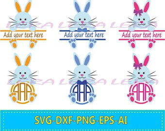 60 % OFF, Easter Bunny SVG, Bunny Split monogram SVG, Bunny Svg Files, Bunny svg Cut File, png, eps, dxf, Bunny Monogram Frames