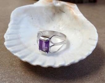 Spectacular 3 Carat Amethyst Ring 1292