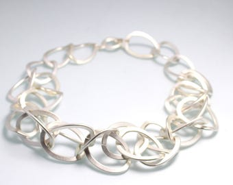Link chain necklace silver