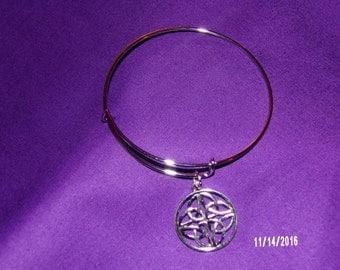 N409 Metal Bracelet with celtic  charm