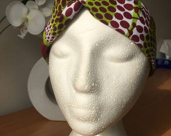 Headband style turban in Wax