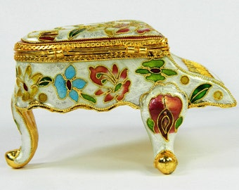 Beautiful Vintage Cloisonne Copper Brass Enamel Piano Figurine Music Box,Floral,Decoration Children Gift Plaything.Chinese Handicraft