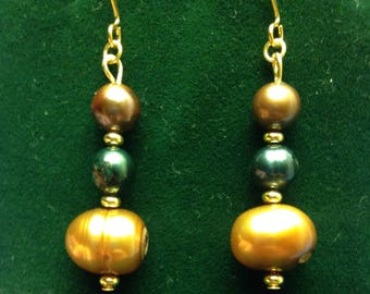 CurlanceCreations Freshwater Pearl Dangle Earrings