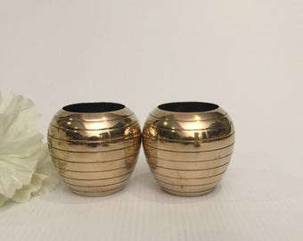 Small Brass Beehive Planters