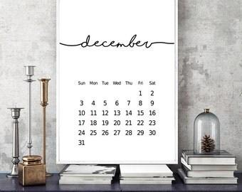 2017 Calendar, 2017 Wall Calendar, 2017 Desk Calendar, Calendar 2017, Printable Calendar, Printable Calendar 2017, Printable Calender
