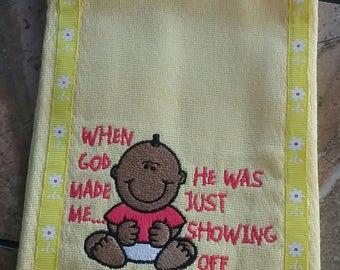 Monogrammed Baby Burp Cloths    SALE Buy 2 get 3rd FREE