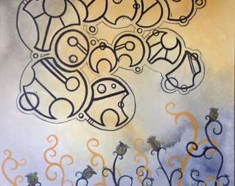 Gallifreyan custom quote panels.