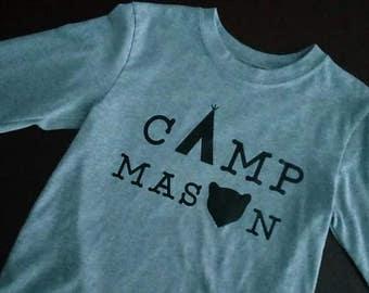 Camp theme birthday shirt