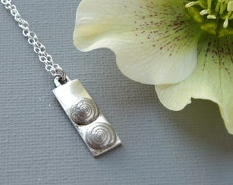 Twin Shells Second Child Sterling Silver Necklace Pendant: Gift for a Mum Of Two or a New Mum of Twins