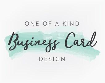 Custom Business Card Design, One of a Kind Design, OOAK Design, Branding Design, Graphic Design, Blog Logo