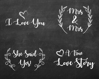 White Text Overlay - Transparent Typography - Photography Marketing Photo Overlay Marketing Text - Engagement Session - She Said Yes