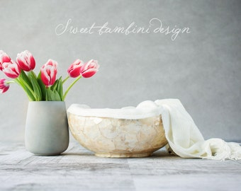 Digital backdrop for newborn photography, Still life tulips (2 versions)