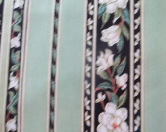 Magnolias Stripe Fabric
