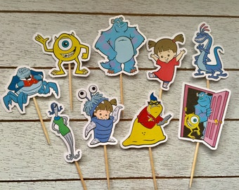 Monsters Inc Inspired Cupcake Toppers