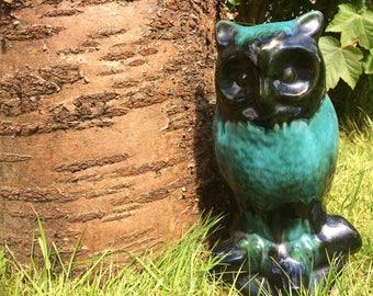 Vintage blue mountain pottery owl / vintage owl figurine / blue mountain Canada / owl statue / owl ceramic figurine / china owl / owl lover