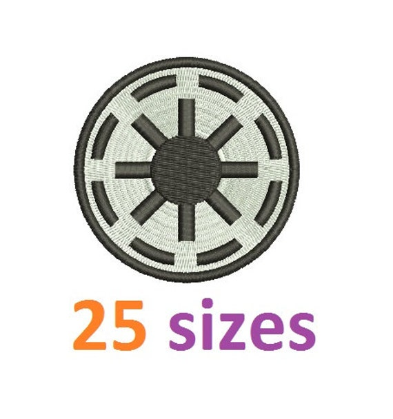 Star wars galactic republic logo symbols embroidery design fill machine embroidery designs - Republic star wars logo ...