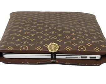 """Louis Vuitton Sleeve Macbook Pro Case MacBook Air 11"""" Sleeve Air & Macbook Retina Case Padded  13"""" Macbook Pro Retina Sleeve 5 - Vuitton Bag"""
