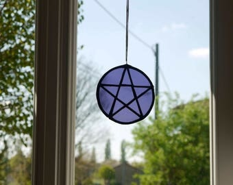 Pentacle/Witch/Autel/Magic/Sun-Catcher/WIcca/Art/Crafts/furniture/home/Decor/Altar/Ritual/esoteric/Light/Witchcraft