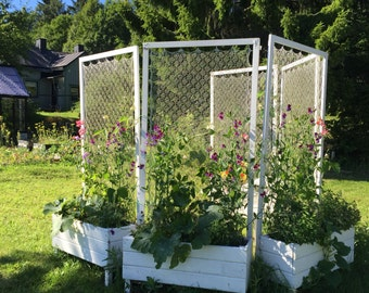 Hand knitted garden room