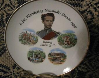 souvenir plate konig ludwig 2  free shipping in u s a