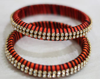 SIlk Thread Bangle Pair