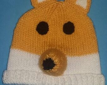 bonnet renard au tricot