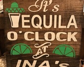 Custom Tequila Coaster Set of 4