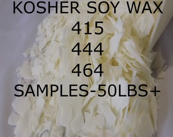Bulk Soy Wax 415/444/464(KOSHER)free shipping  choose from samples 2,4,6,8,16oz,1,2,2.5,3,4,5,7.5,10,15,20,25,35,50lb