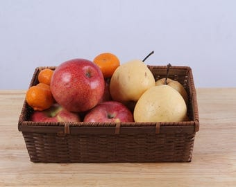 Fruit Basket, Made from bamboo, Thai handmade, Beautiful wicker,Vintage Style