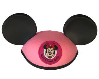 Personalized Walt Disney World Youth Pink Minnie Mouse Ear Hat