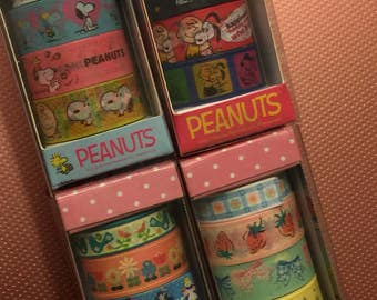 Snoopy peanuts...chocoholic, set of 4 tapes boxes set brand new Full Size rolls
