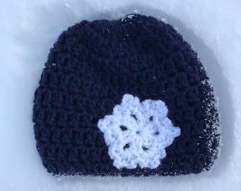Snowflake Hat, Snowflake crochet hat, snowflake crochet beanie, Winter Beanie