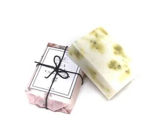 Tea Rose Soap - Oatmeal & Shea - Rose Soap