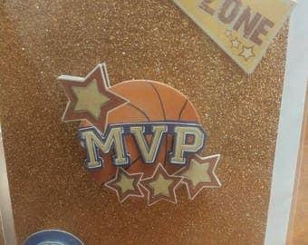 Blank 3D Basketball Inspired Card