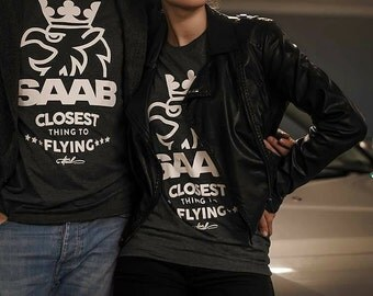 "Saab  ""Closest thing to flying"" T-shirt"