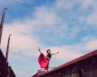 Dancers skirt - red poppy