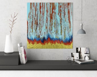 SALE Abstract Painting, Abstract Forest Art, Original Painting, Canvas Art, Wall Art, Abstract Art, Abstract Painting, Canvas Painting