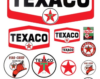 1:25 G scale model Texaco  gasoline station gas signs