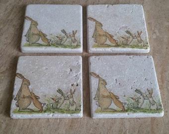 Rabbits Handmade Coasters