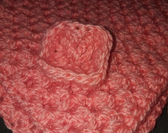 Salmon color baby blanket