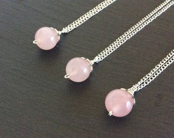 rose quartz necklace, rose quartz jewelry, rose quartz pendant, rose quartz stone, crystal necklace, rose quartz, pink necklace