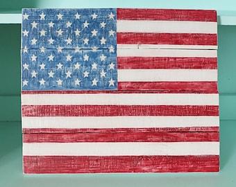 American Flag pallet wood sign
