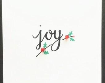 Handmade 'Joy' Christmas Card